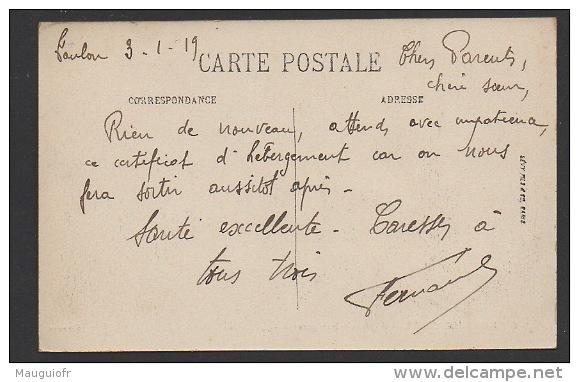 DF / 83 VAR / SAINT-MANDRIER / HÔPITAL DE LA MARINE / CIRCULÉE EN 1919 - Saint-Mandrier-sur-Mer