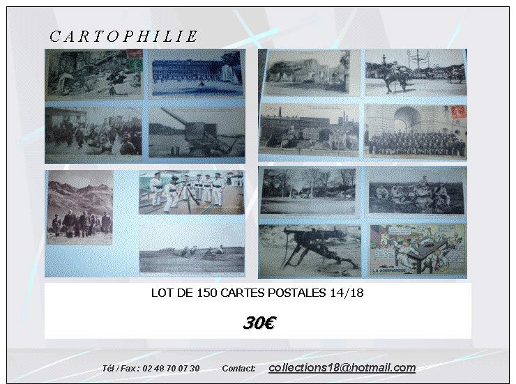 Lot 150 Cartes Postales Première Guerre Mondiale - Geschiedenis