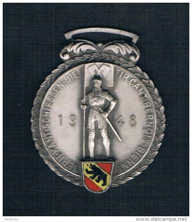 BERN KANT SCHIESSEN BIELTIRCANT BERNOIS BIENNEBERN 1948 - Monedas