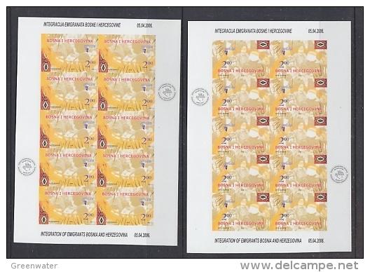 Europa Cept 2006 Bosnia/Herzegovina Sarajevo 2v 2 Sheetlets IMPERFORATED ** Mnh (19301) - 2006
