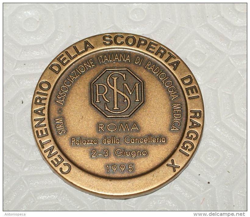 ITALIA - 1995 BRONZE MEDAL OF CENTENARY XRAY DISCOVERY - ROENTGEN - Altri