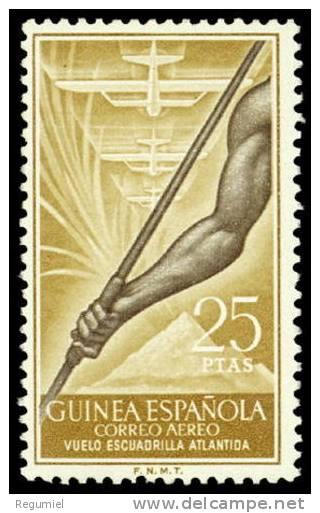 Guinea 368 (*) Sin Goma. Atlantida - Guinea Espagnole