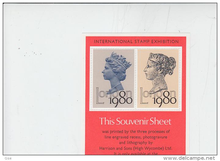 "GRAN BRETAGNA  1980 -  Souvenir Sheet  ""London 1980"" - Erinnofilia"