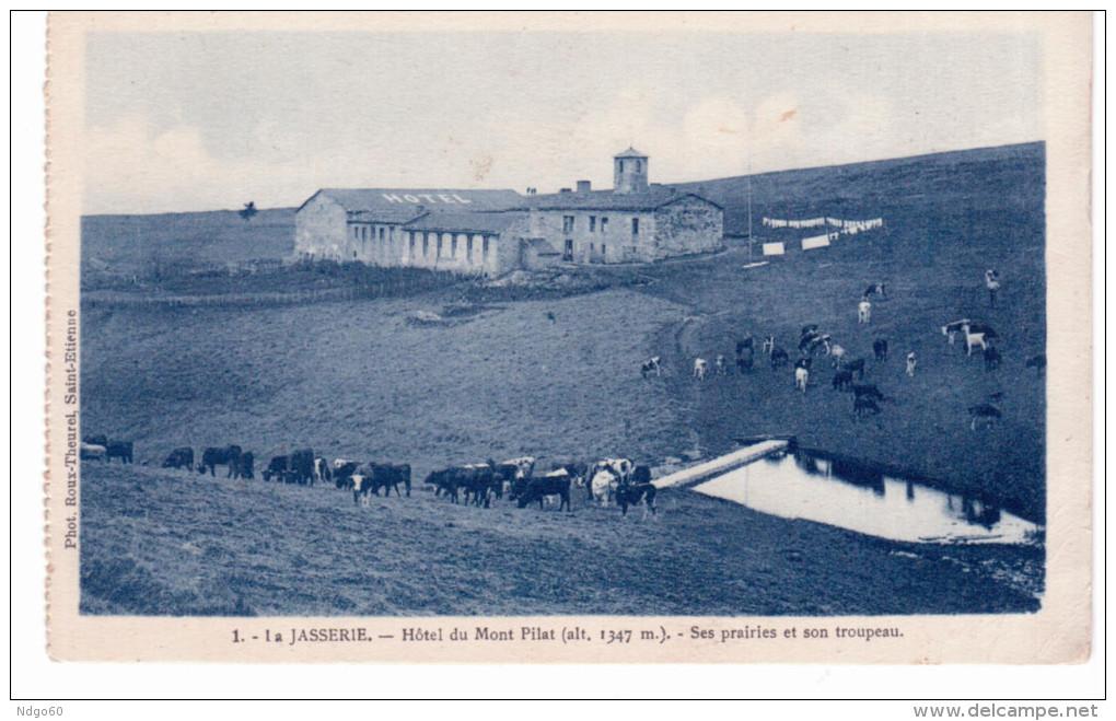 La Jasserie - Hôtel Du Mont Pilat - Ses Prairies Et Son Troupeau (provient D'un Carnet) - Non Classés
