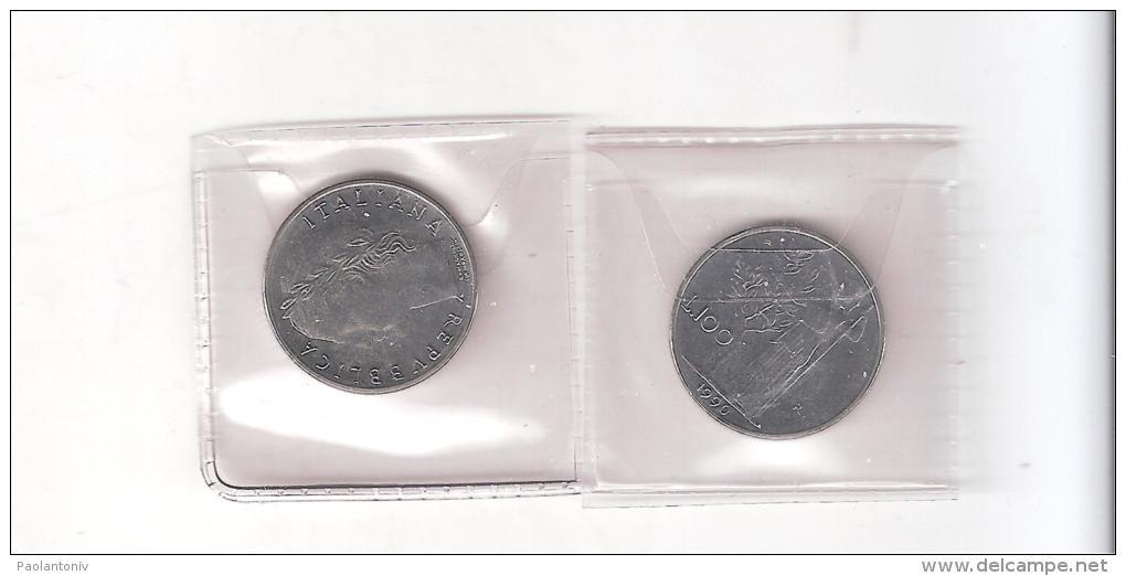D) ITALIA  LIRE 100 DEL 1990 FDC  CON CIFRA 99 APERTE COMUNE - 1946-… : Republic