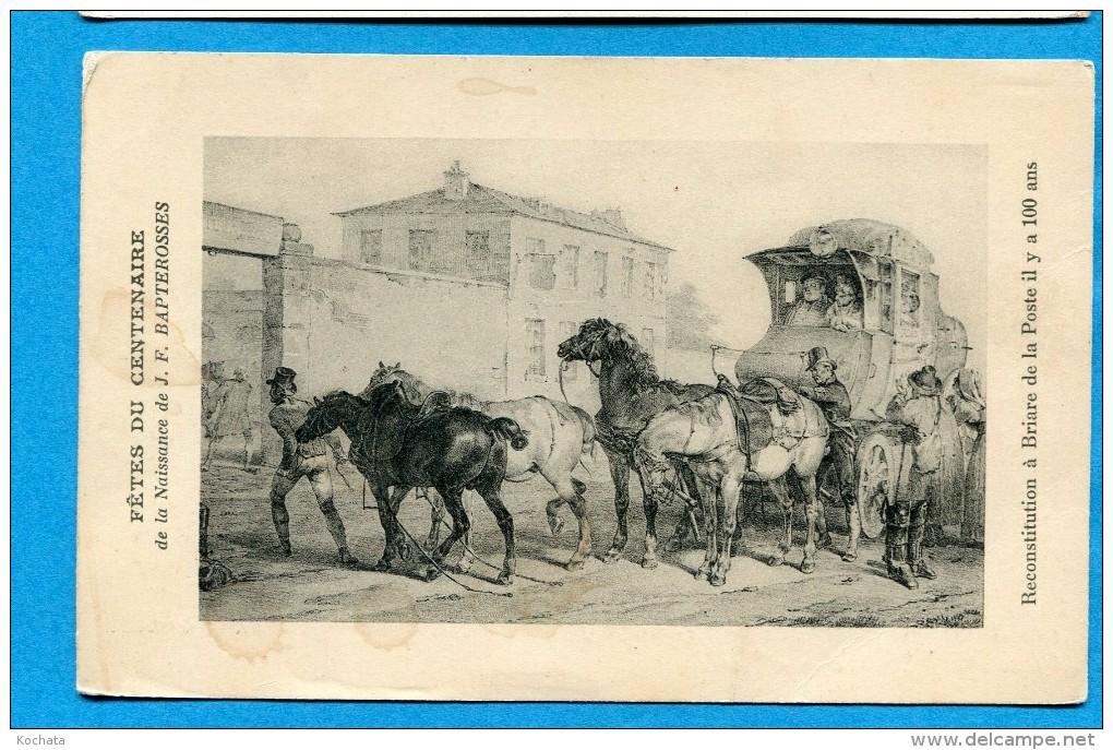 OV887,  Briare, J-F Bapterosses, Chevaux, Poste, Calèche, Diligence, Circulée Sous Enveloppe - Cartes Postales