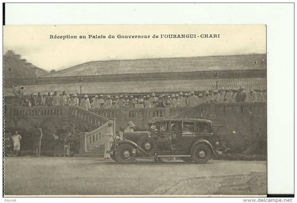 CAR17   --  RECEPTION AU PALAIS DU GOUVERNEUR DE   L `  OUBANGUI - CHARI  --  OLDTIMER - Centraal-Afrikaanse Republiek
