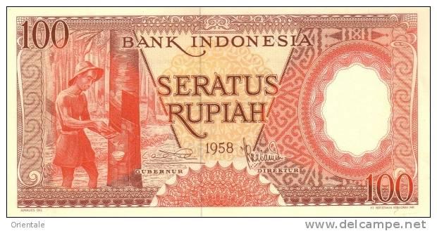 INDONESIA P.  59 100 R 1958 UNC - Indonésie