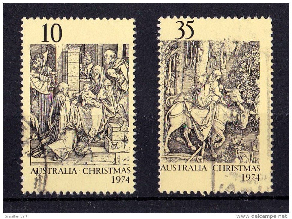 Australia 1974 Christmas Set Of 2 Used - 1966-79 Elizabeth II