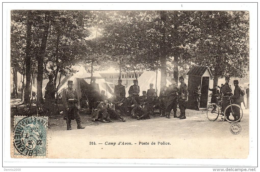 AVON (77) - Camp D' Avon - Poste De Police - Ed. A. Siron, Barbizon - Avon