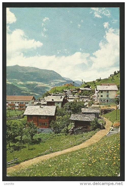 AUSSERBERG VS Lötschberg Südrampe Pension SONNENHALDE 1973 - VS Valais