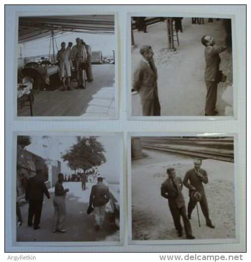 UNPUBLISHED PHOTOS EDWARD VIII KING PAUL I YUGOSLAVIA 1936 ON YACHT NAHLIN - Non Classés