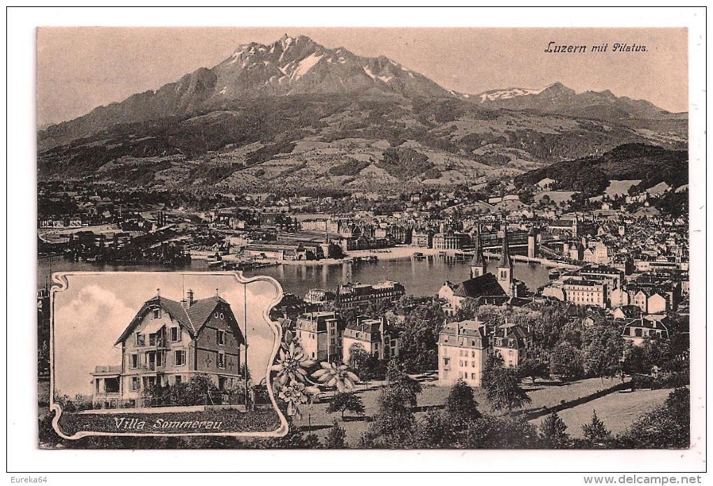 *°* LUZERN Mit Pilatus - Villa Sommerau - 2 Scans - LU Lucerne