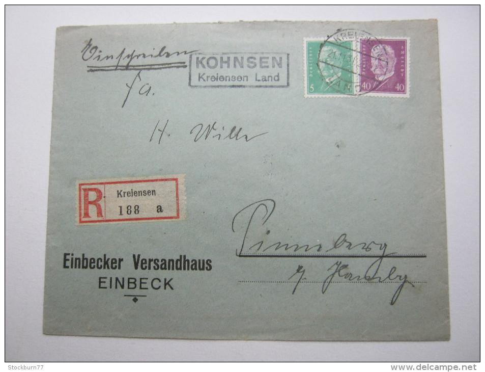 1931, KOHNSEN - Kreiensen  , Klarer Landpoststempel Auf Beleg - Briefe U. Dokumente