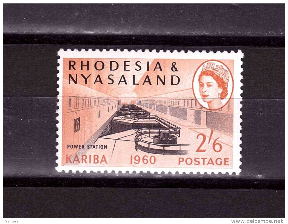 NYASALAND 1960 Kariba Odd Value   Yvert Cat N°37 Absolutely Perfect MNH ** - Nyasaland (1907-1953)