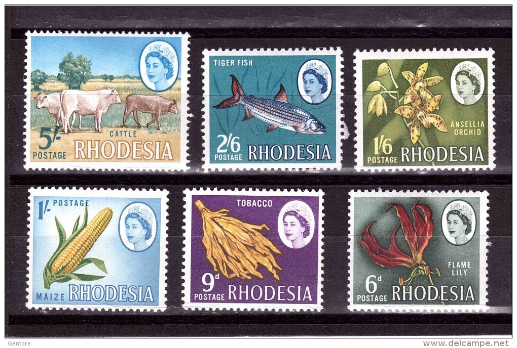 RHODESIA 1964-65 Odd Value   Yvert Cat N° 134-35-36-38-40-41 Absolutely Perfect MNH ** - Southern Rhodesia (...-1964)