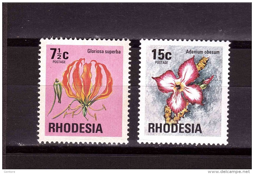 RHODESIA 1974-76 Flowers Odd Value   Yvert Cat N° 240-271  Absolutely Perfect MNH ** - Southern Rhodesia (...-1964)