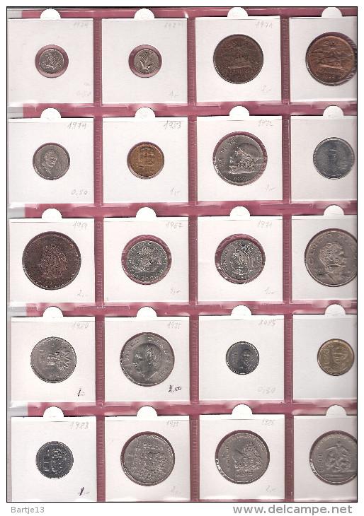 MEXICO SMALL LOT 20 PCS. 10 CENTAVOS/ 200 PESOS 1954/86 DIFFERENT TYPES/YEARS - Mexiko