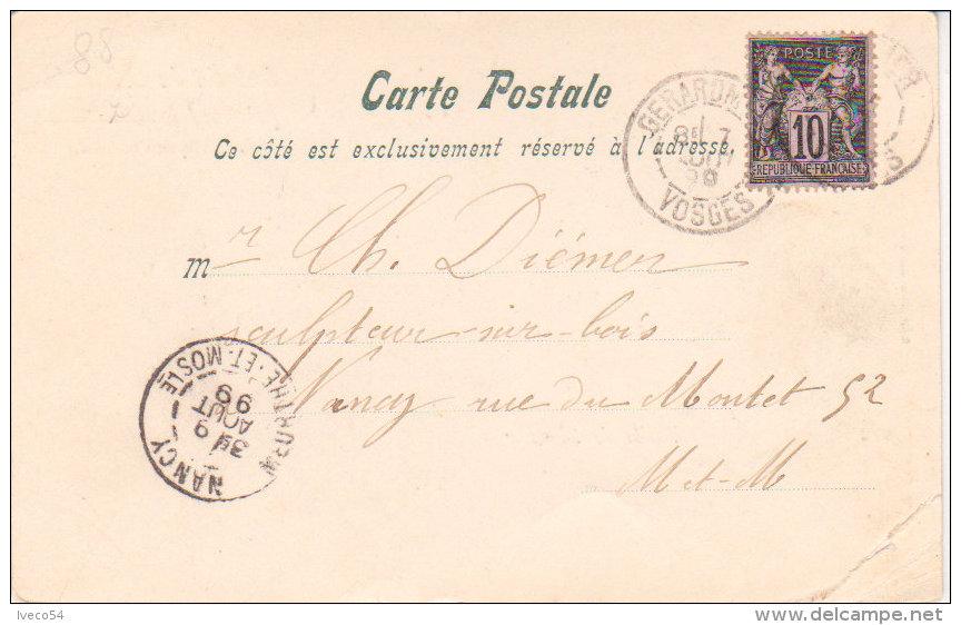 """88  Vosges  1899  """"  Col De La Schlucht """"  Vallée De Munster - Munster"""