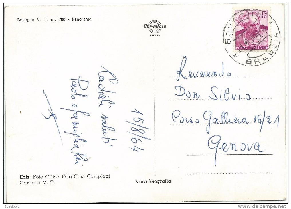 1964, Brescia -  Bovegno - Val Trompia - Panorama. - Brescia