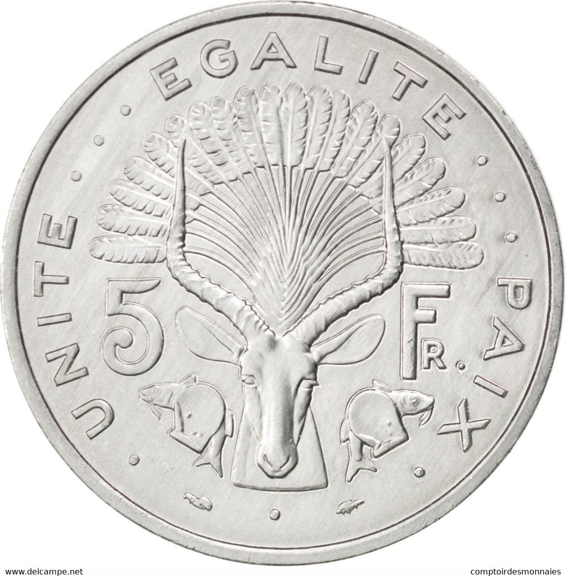 Djibouti, République, 5 Francs 1991, KM 22 - Djibouti