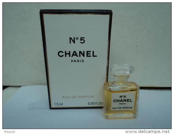 "CHANEL  : "" N° 5    "" MINI EDP  1,5 ML  LIRE ET VOIR !! - Miniatures Womens' Fragrances (in Box)"