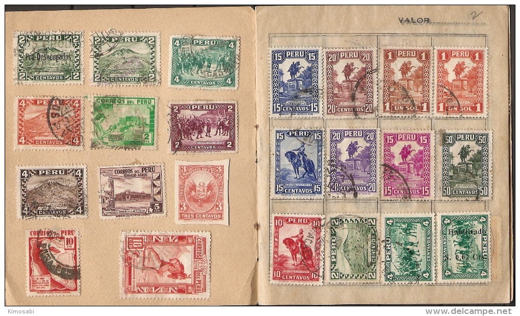 Peru Classic Collection On Old Approval Sheets. Used, Hinged. 12 Scans. - Peru
