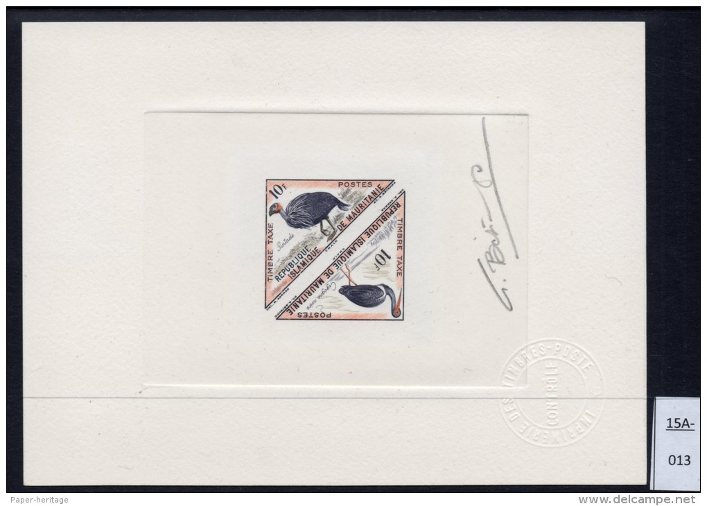 Bird Triangle Epreuve De Luxe Signé Artist Signed Proof Bétemps Dreieck - Mauritania (1960-...)