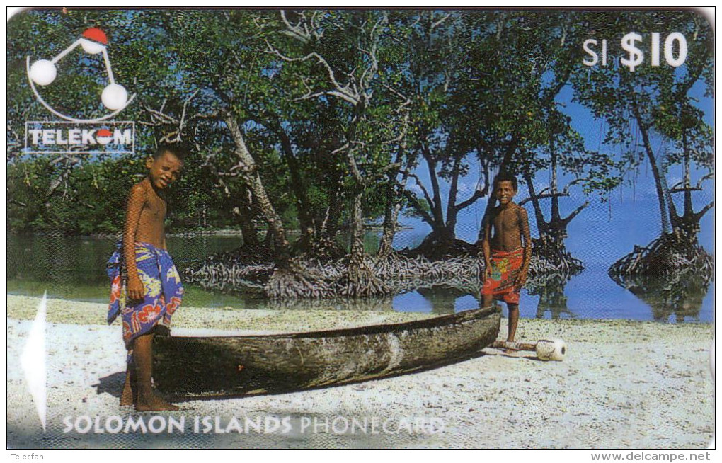 SALOMON CANOE 10$ Ut N° 03SIC...... - Solomon Islands