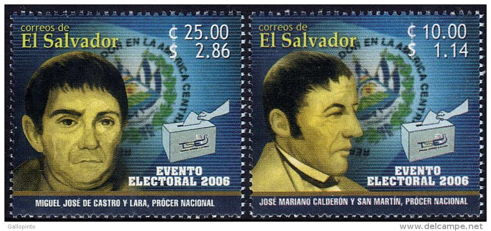 EL SALVADOR 2006 ELECTIONS Sc 1639-1640 MNH - El Salvador