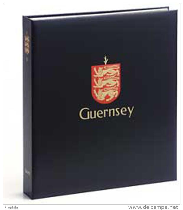 DAVO 4841 Luxe Binder Stamp Album Guernsey I - Groß, Grund Schwarz