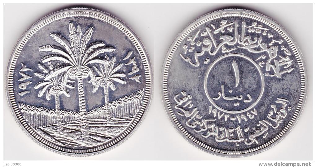 IRAQ : 1 DINAR 1972 Argent FDC (voir Scan) - Iraq