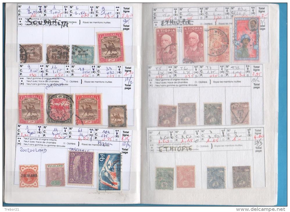 Carnet D'ÉGYPTE & ETHIOPIE  - 9 Scans -  Cote Yvert 498 € - Colecciones (en álbumes)
