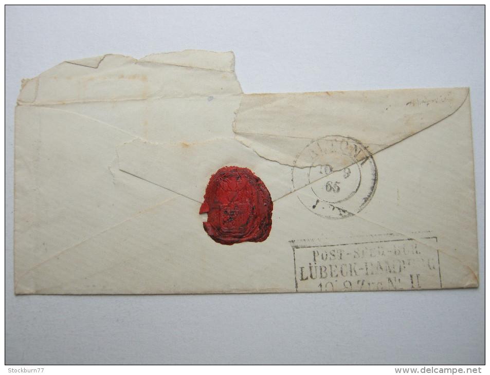 1865, Brief Nach Hamburg Altona - 1864-04 (Christian IX)