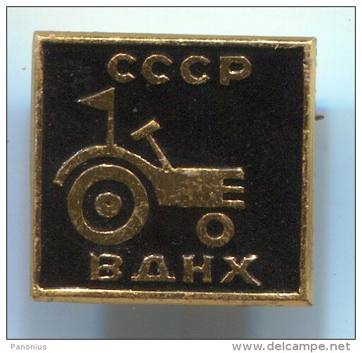 Tractor  Trattore Tracteur - Russia Soviet Union, Vintage Pin Badge - Tracteurs