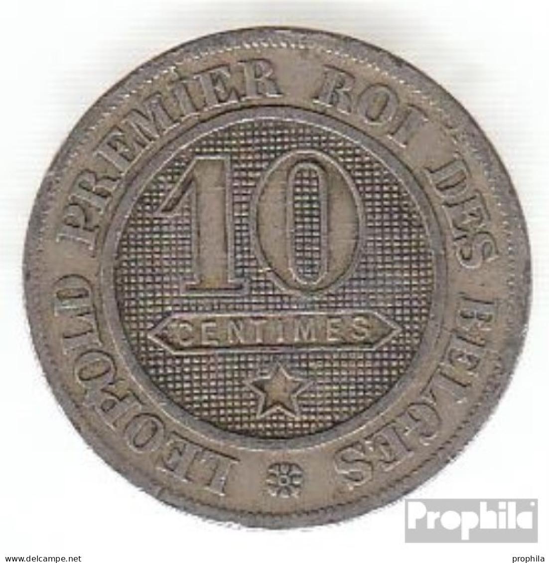 Belgien KM-Nr. : 22 1862 Sehr Schön Kupfer-Nickel Sehr Schön 1862 10 Centimes Löwe Im Kreis - 1831-1865: Léopold I