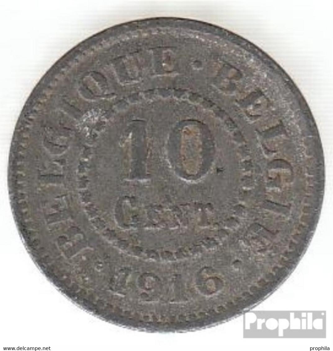 Belgien KM-Nr. : 81 1915 Sehr Schön Zink Sehr Schön 1915 10 Centimes Deutsche Besetzung I. W - 1909-1934: Albert I.