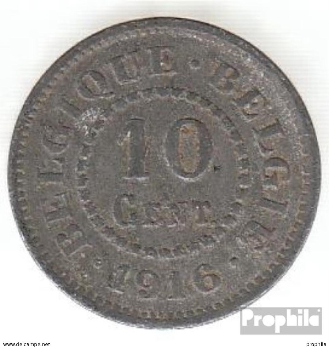Belgien KM-Nr. : 81 1916 Vorzüglich Zink Vorzüglich 1916 10 Centimes Deutsche Besetzung I. W - 1909-1934: Albert I.