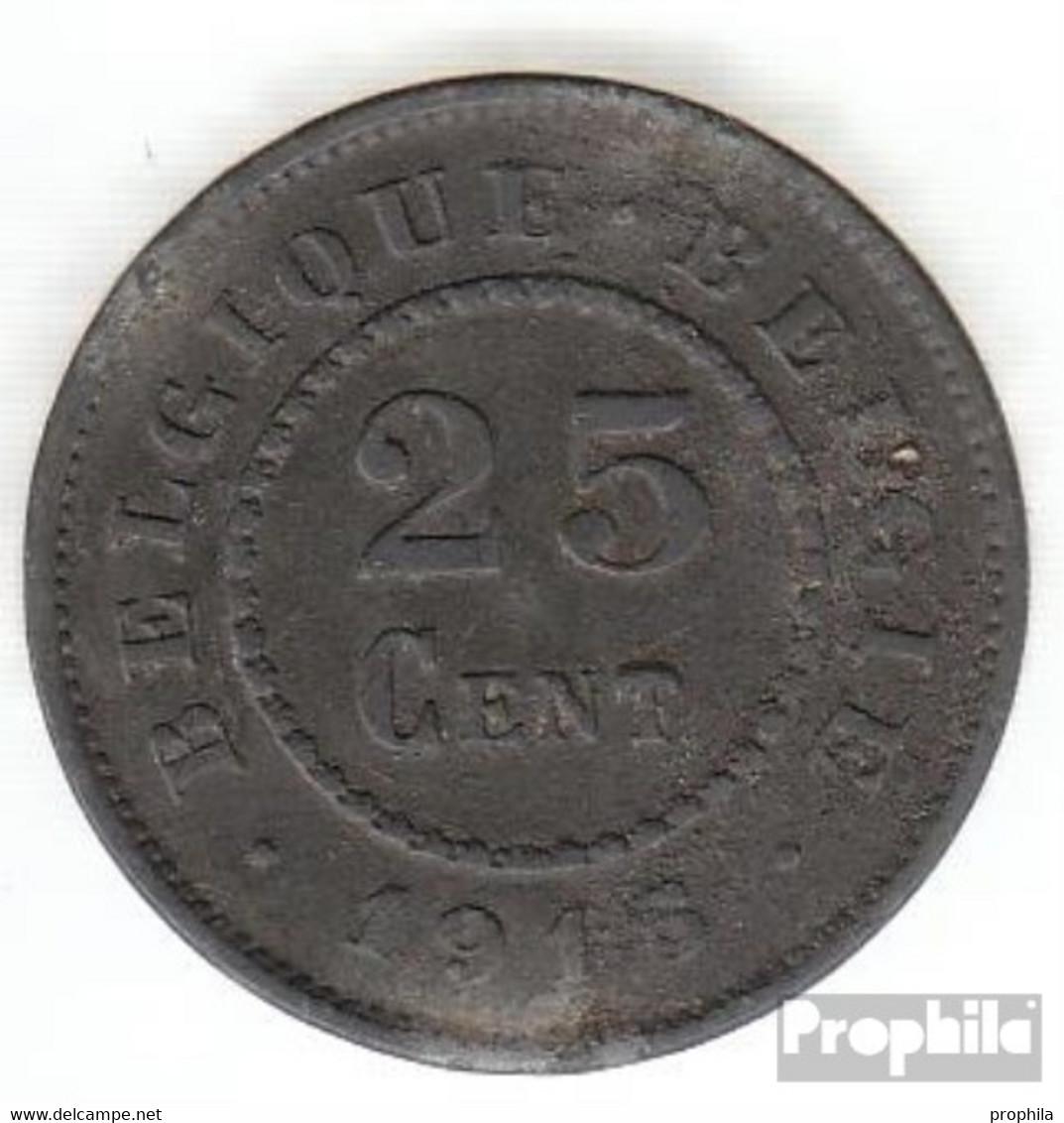 Belgien KM-Nr. : 82 1917 Sehr Schön Zink Sehr Schön 1917 25 Centimes Deutsche Besetzung I. W - 1909-1934: Albert I.