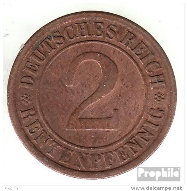 Deutsches Reich Jägernr: 307 1924 A Sehr Schön Bronze Sehr Schön 1924 2 Rentenpfennig Ährengarbe - 2 Rentenpfennig & 2 Reichspfennig