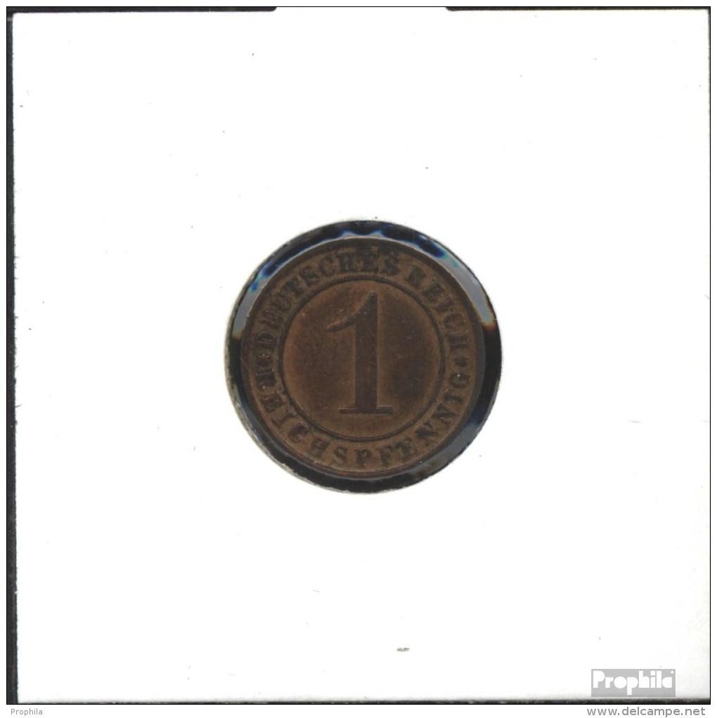 Deutsches Reich Jägernr: 313 1931 D Sehr Schön Bronze Sehr Schön 1931 1 Reichspfennig Ährengarbe - [ 3] 1918-1933 : Weimar Republic