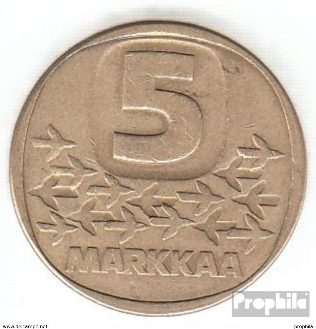 Finnland KM-Nr. : 57 1983 K Vorzüglich Aluminium-Bronze Vorzüglich 1983 5 Markkaa Eisbrecher - Finnland