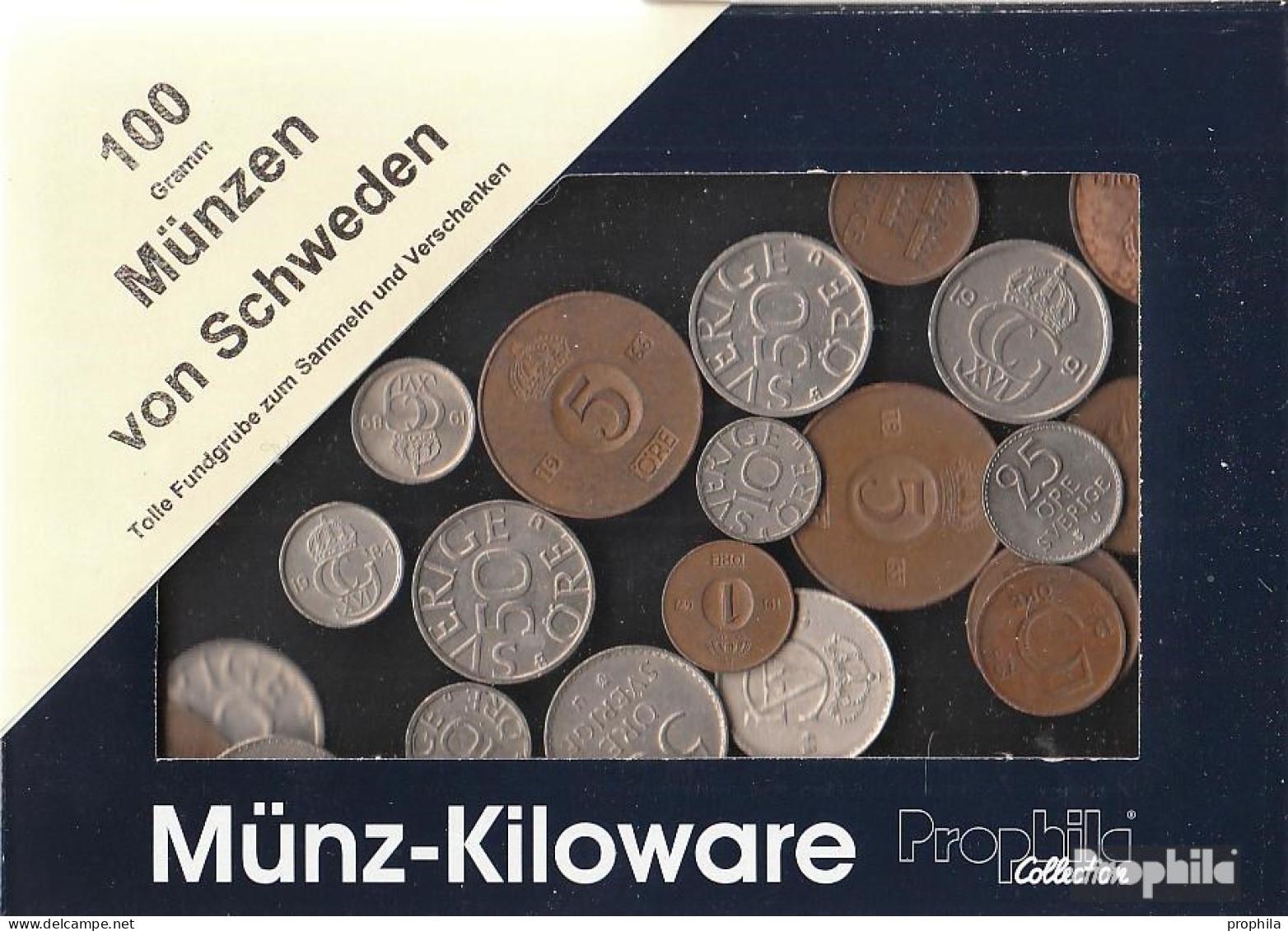 Schweden 100 Gramm Münzkiloware - Coins & Banknotes