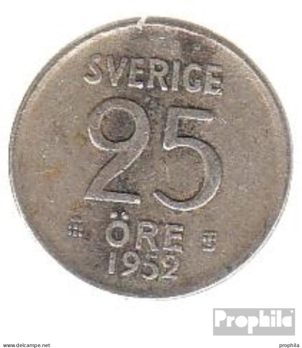 Schweden KM-Nr. : 824 1956 Vorzüglich Silber Vorzüglich 1956 25 Öre Krone - Schweden