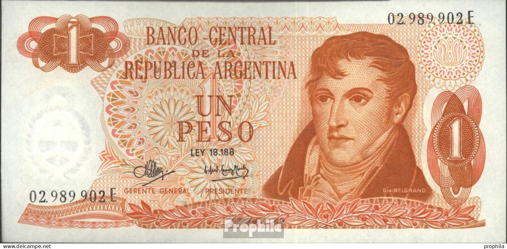 Argentinien Pick-Nr: 287 Bankfrisch 1970 1 Pesos - Argentine