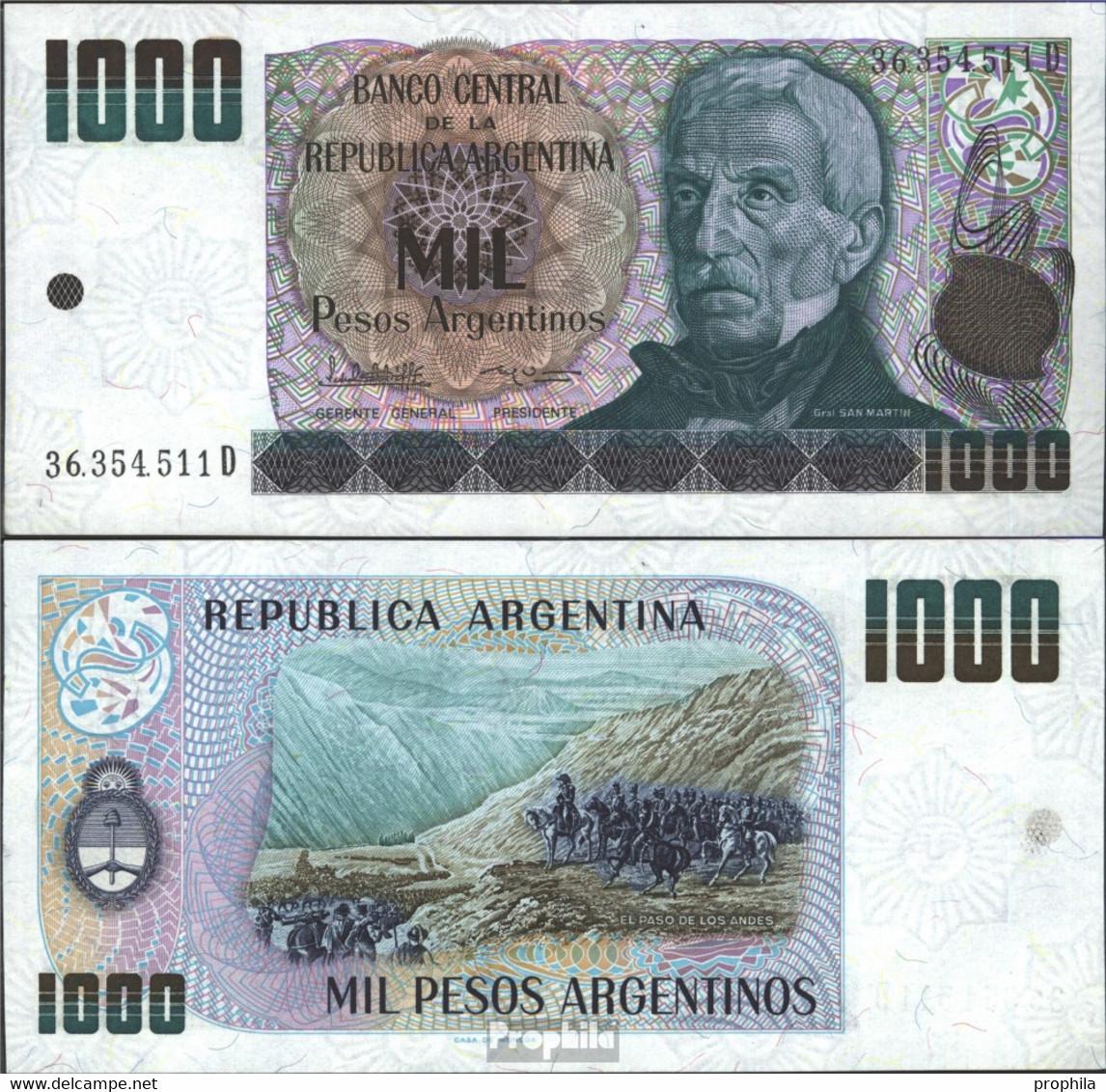 Argentinien Pick-Nr: 317b Bankfrisch 1983 1.000 Pesos Argentinos - Argentine