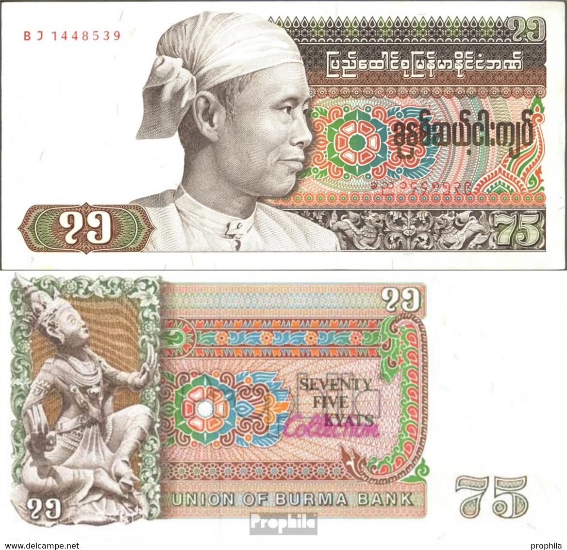 Birma Pick-Nr: 65 Bankfrisch 1985 75 Kyats - Myanmar