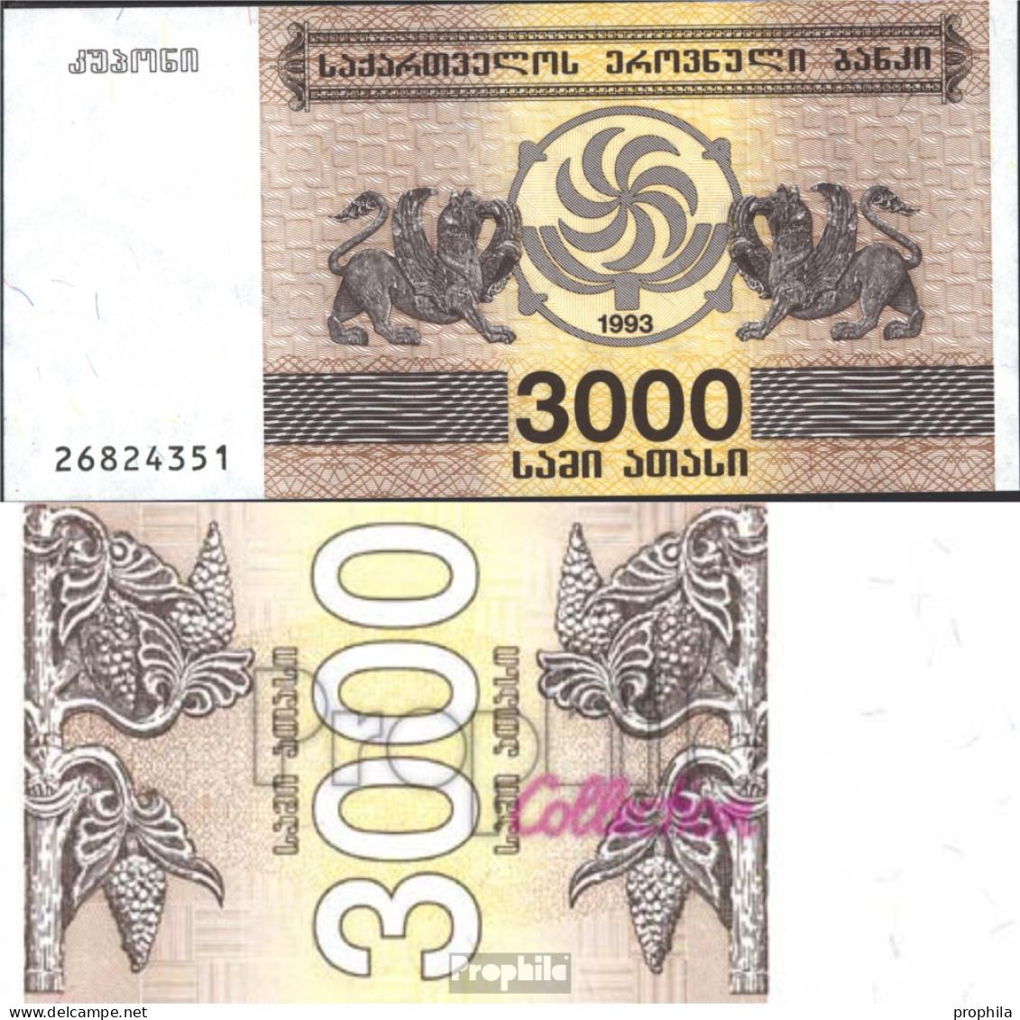 Georgien 45 Bankfrisch 1993 3.000 Laris - Géorgie