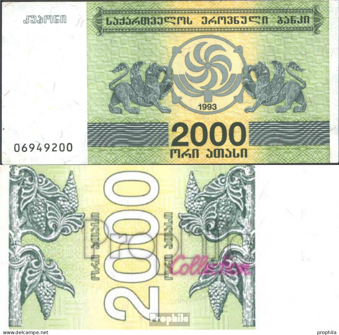 Georgien Pick-Nr: 44 Bankfrisch 1993 2.000 Laris - Georgien