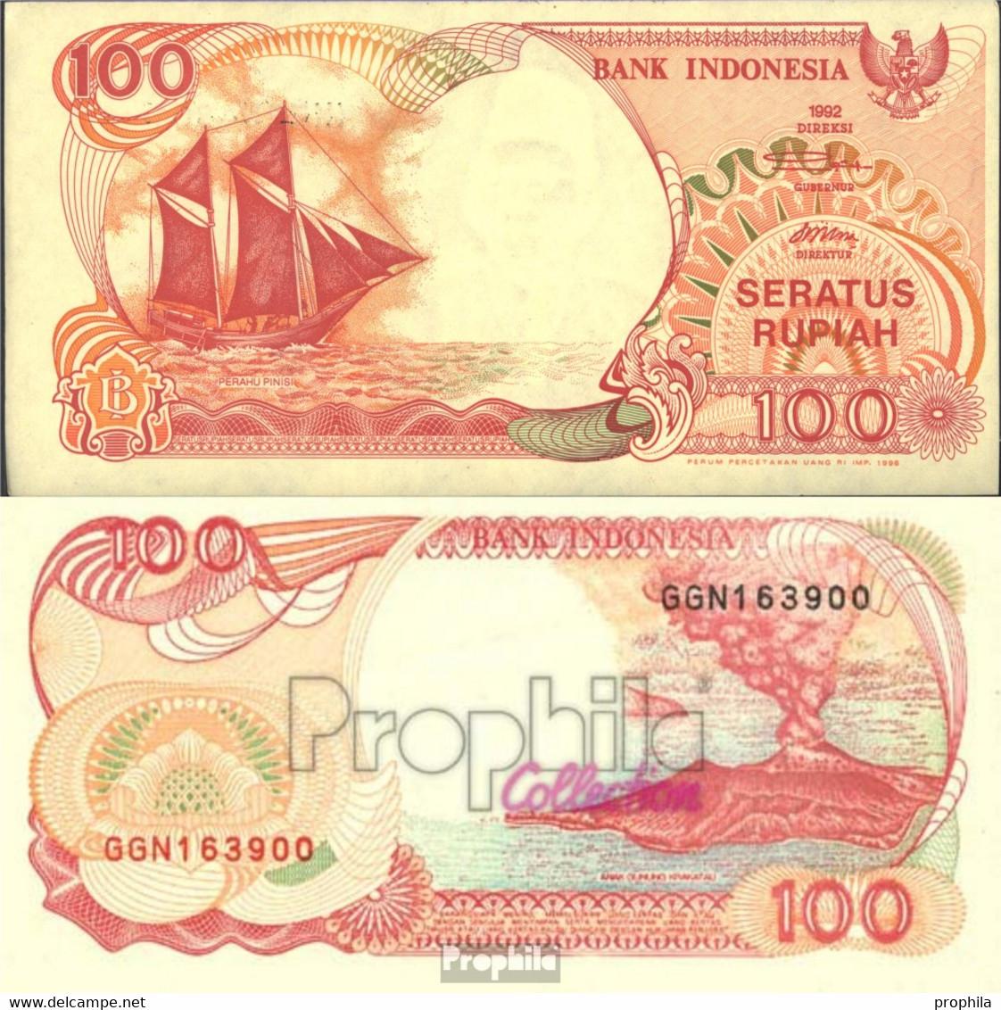 Indonesien Pick-Nr: 127e Bankfrisch 1996 100 Rupiah Segelschiff - Indonesien